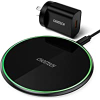 Wireless Charger, CHOETECH 15W Max Qi Fast Wireless Charging Pad Compatible iPhone 12/12 Pro/12 Pro Max/11 Pro Max/12…