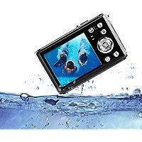 """HG8011 Cámara Digital a Prueba de Agua/Zoom Digital 4X/ 12 MP/ 1080P FHD/Pantalla LCD TFT de 2,31""""/ Cámara subacuática para niños/Adolescentes/ Estudiantes/Principiantes/ Los Ancianos"""