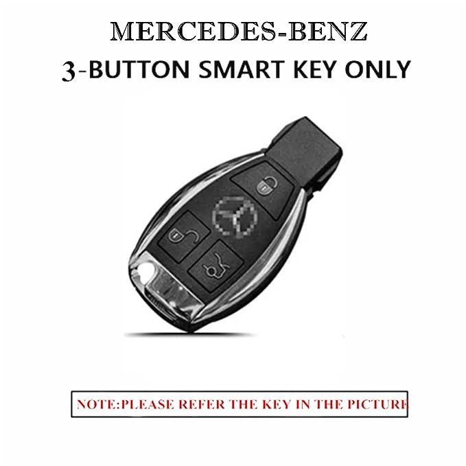 Amazon.com: WAFERN - Funda de piel para llave de Mercedes ...