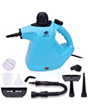 MLMLANT Handheld Pressurized Steam Cleaner with 9 Piece Accessory Set Multi-Purpose and Multi-Surface All Natural, Chemical-Free Steam Cleaning for Home, Auto, Patio, More