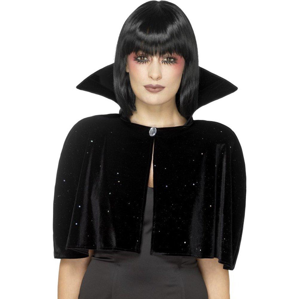 Smiffys 46823 D/éguisement Femme Cape de Reine Mal/éfique Taille Unique Noir