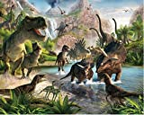 7x5ft 3d Jurassic Period Dinosaur backdrop High-grade portrait cloth Computer print party Backgrounds lv-201711222