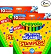Crayola 10-Count Ultra Clean Expression Stamper Markers (2 pack)
