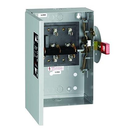 ge industrial tc35321 3 wire 3 pole non-fusible safety switch 240 volt ac 30  amp nema 1 spec-setter™ - - amazon com