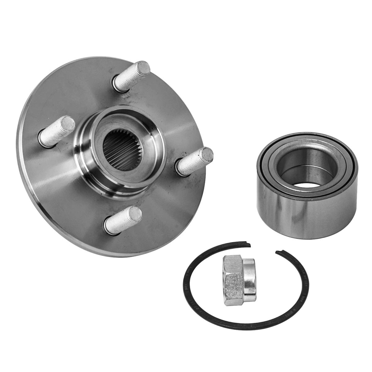 4 Lug Hub Repair Kit Front Wheel Hub and Bearing Assembly Left or Right Compatible Saturn SC1 SC2 SL SL1 SL2 SW1 SW2 AUQDD 518514 x2 Pair