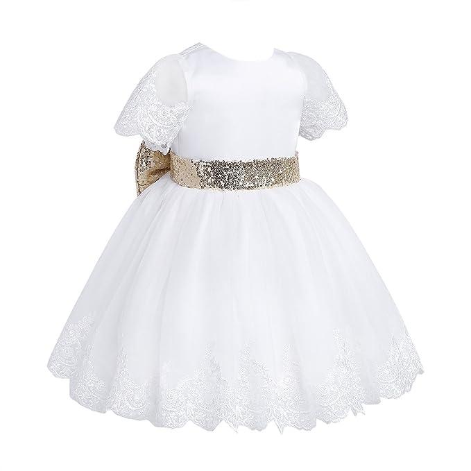 Vestiti Cerimonia Bambina 9 Mesi.Iefiel Bimba Abiti Da Battesimo Neonata Vestito Da Principessa
