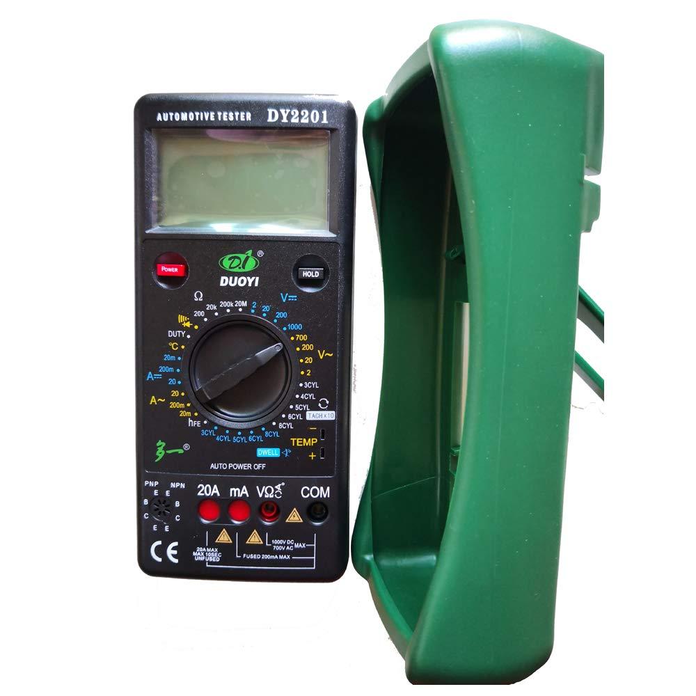 Mrcartool DY2201 Digital Car Tester Multimeter 500-10000 RPM Dwell Angle Temperature Meter Multimeter