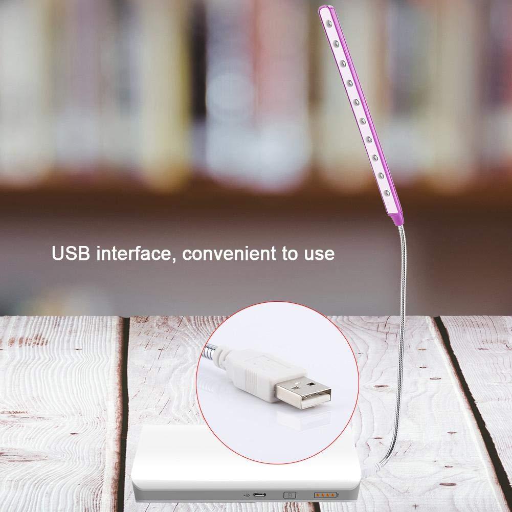 1# koulate Mini l/¨/¢mpara de Escritorio del LED luz Brillante Flexible Ligera de la Tabla del USB para la PC de Escritorio del Ordenador Port/¨/¢Til