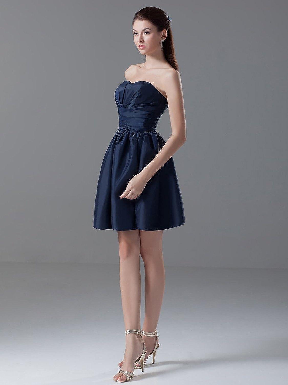 Jspoir Melodiz Women's Simple Strapless Taffeta A-Line Party Dress