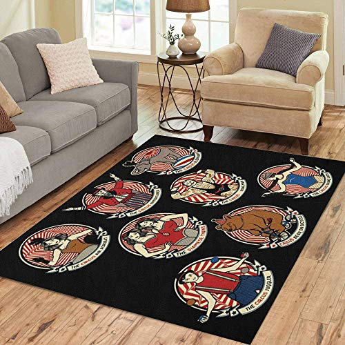 Pinbeam Area Rug Vintage Circus Collection The