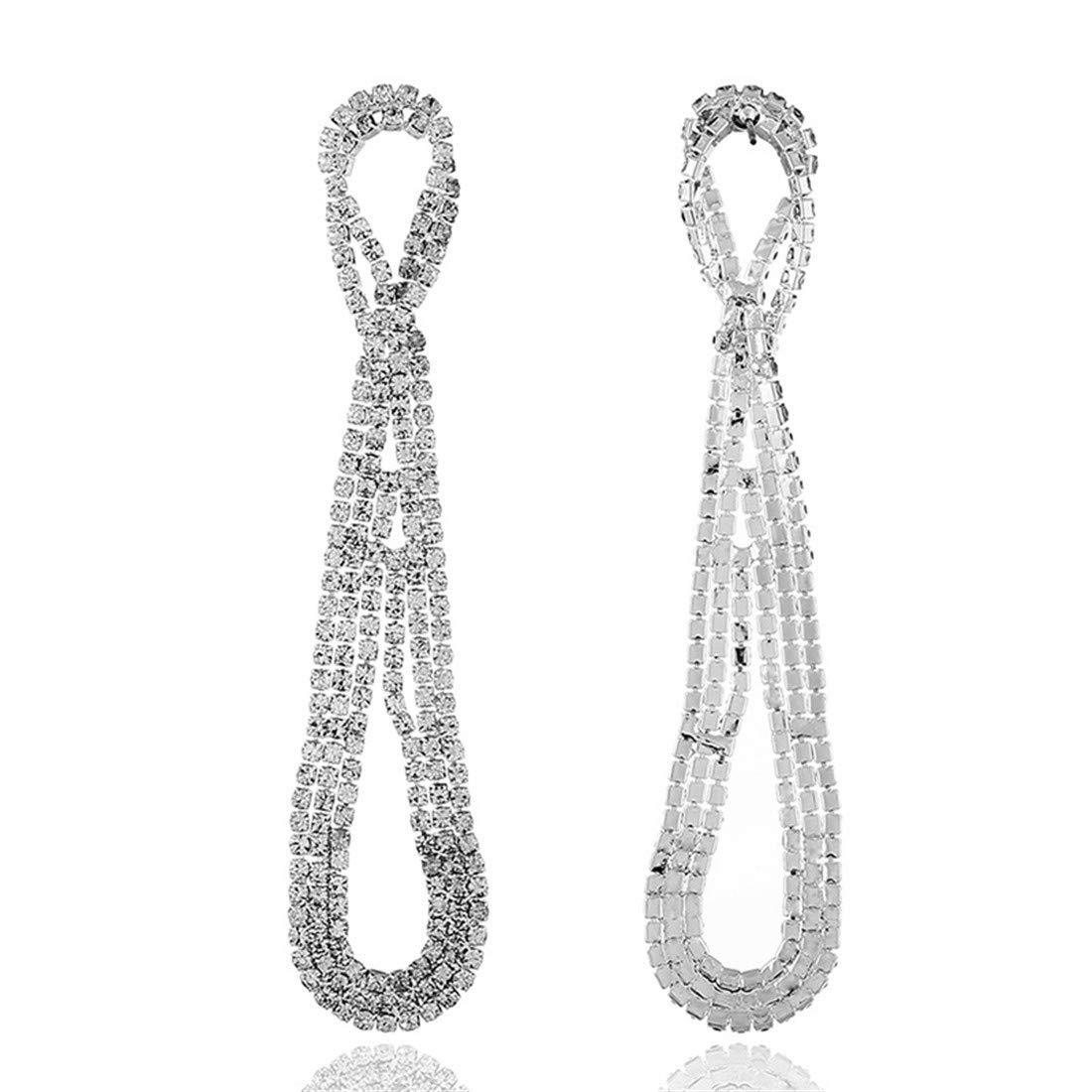 long chain knitted Earrings ball earrings|clip on earrings|ear cuffs|dangle earrings|earring jackets|hoop earrings|stud earrings|European and American diamond drill earrings