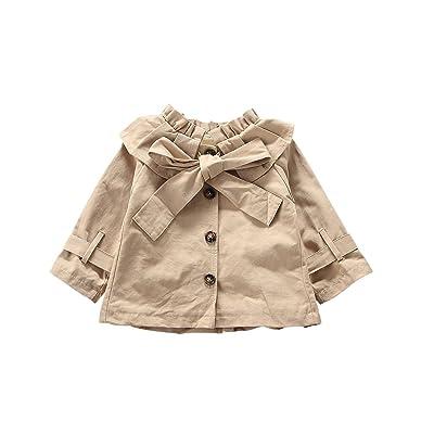 Baby Girls Princess Bowknot Outerwear Jacket Ruffle Windbreaker Trench Coat