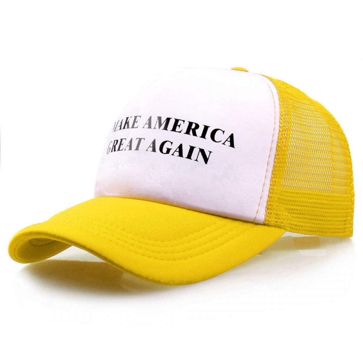 Trump 2020 Make America Great Again Caps Donald Trump Men Women Snapback Hats Yellow at Amazon Mens Clothing store:
