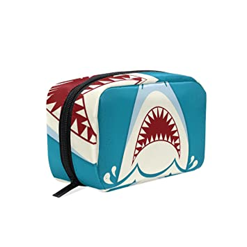 004b8875d258 Amazon.com : MAPOLO Shark Jaws Handy Cosmetic Pouch Clutch Makeup ...