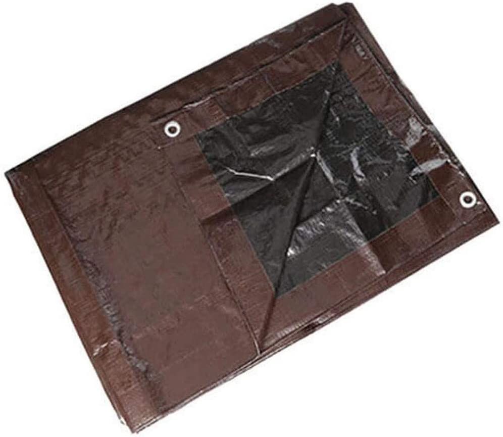 Black//Brown Reversible Strong ProCover 20x20 Heavy Duty 8-9 Mil Tarp Temporary Roof Tarp Durable Protects Floors /& Furniture Poly Tarp Weatherproof Protects Bushes /& Gardens Multi-Purpose