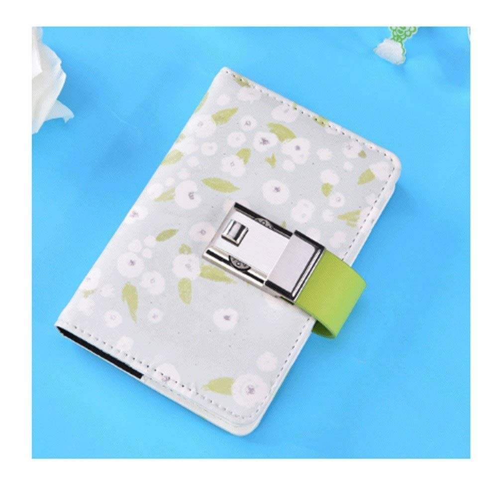 ZJY A5 Password Journal Book with Lock Diary Student South Korea Portable Simple Creative Handbook Notebooks