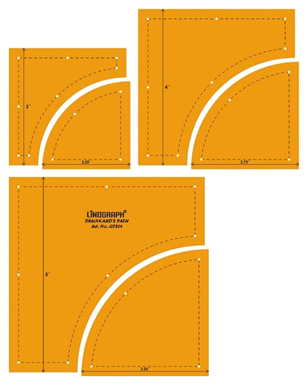 Clam Shell Quilting Patchwork-Form-Scale-Vorlage Set mit 3 St/ück
