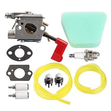 Salvador carburador con línea de combustible para 530071565 530071636 Poulan bc3150 pp031 pp033 pp035 pp136 ppb100