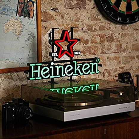 Letrero de bar vintage luminoso Heineken LED