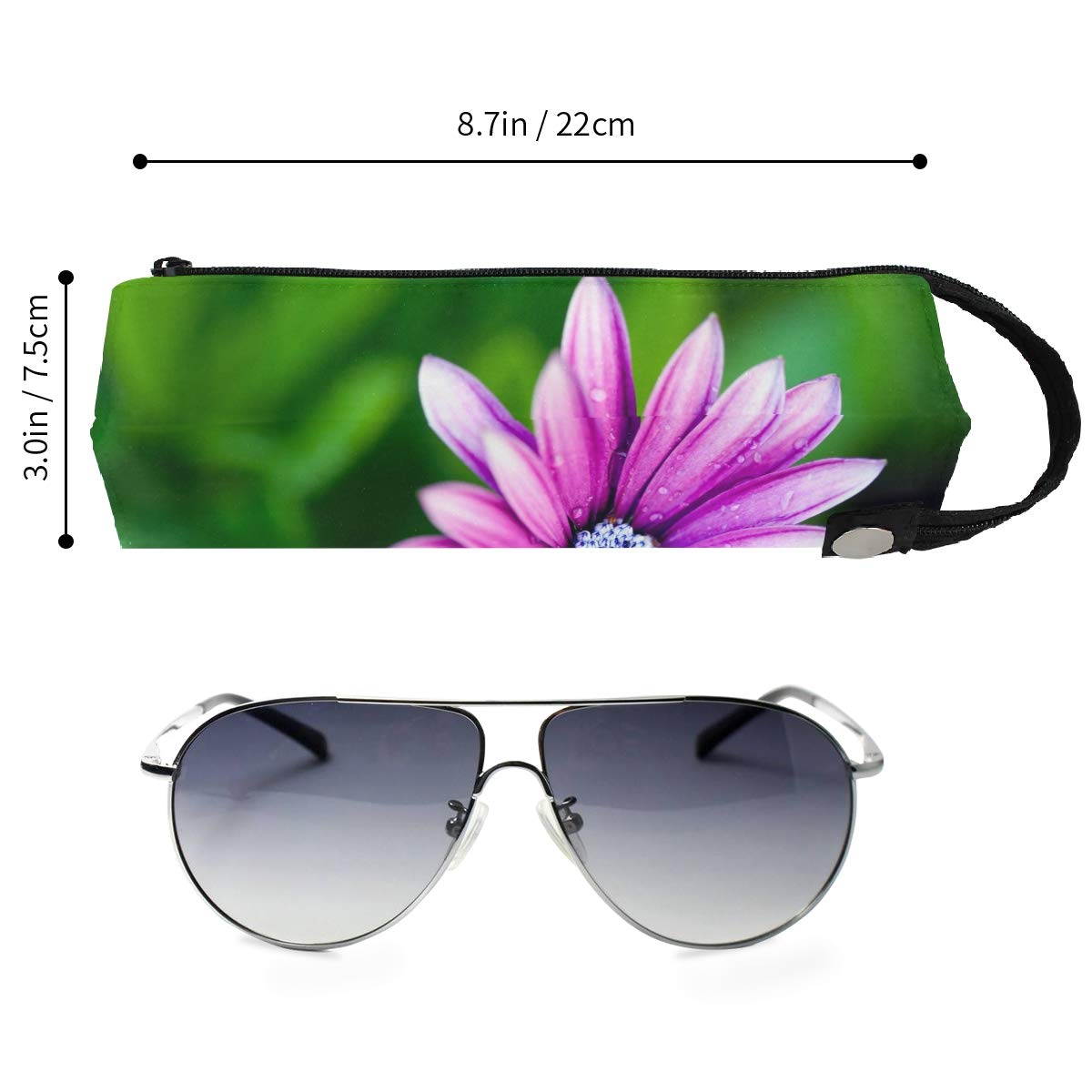 Glasses Case Puffer Fish On White Background Portable Soft Sunglasses Pencil Bag Protective Holder