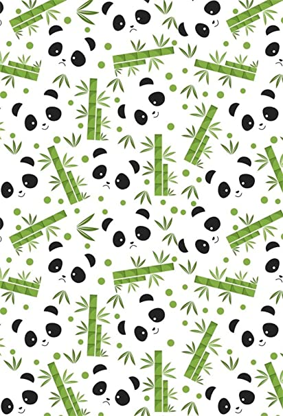 LFEEY 5x7ft Cute Panda Bamboo Pattern Photography Backdrop Baby Shower Photos Girl or Boy Gender Reveal