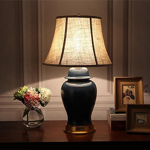 CAODANDE Lámpara de Mesa Lámpara de Mesa de cerámica Esmalte ...