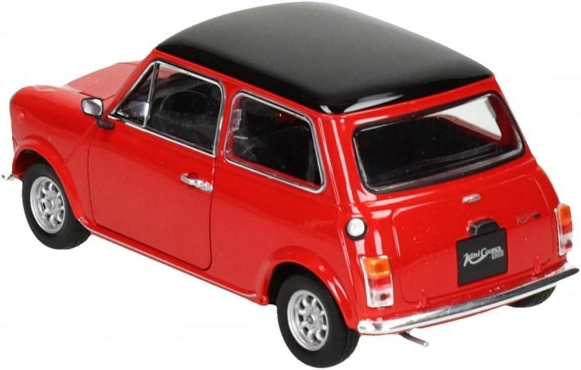 schwarzes Dach Welly 1:24 rot 1974 Mini Cooper 1300 Modellauto Fertigmodell