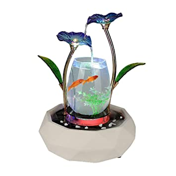 LIJUN Agua decoración Peces Tanque Sala TV gabinete decoración casera cerámica Fuente Waterscape Muebles para el