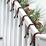 BrylaneHome Garland Ties, Set of 6 (Red,0)
