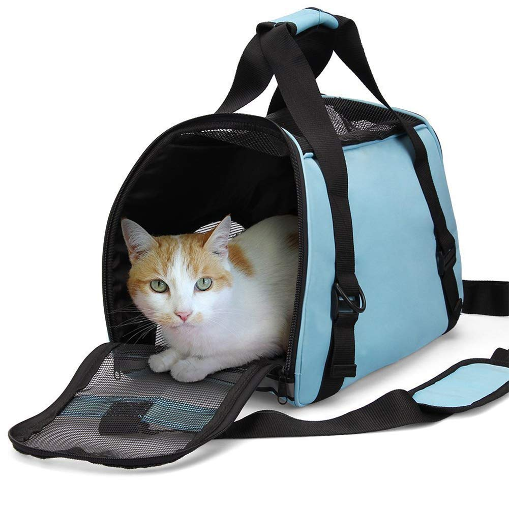 Pet Carrier,for Cats and Puppies, bluee, Purple,bluee,L