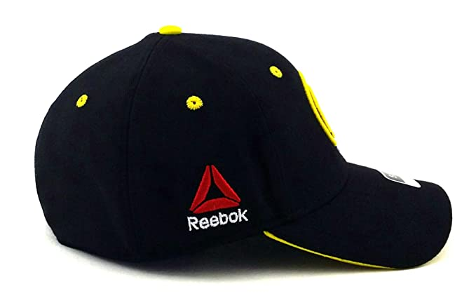 6cb38b1359679 Amazon.com : Reebok UFC RBK MMA Black Yellow Octagon Fighter's Flex ...