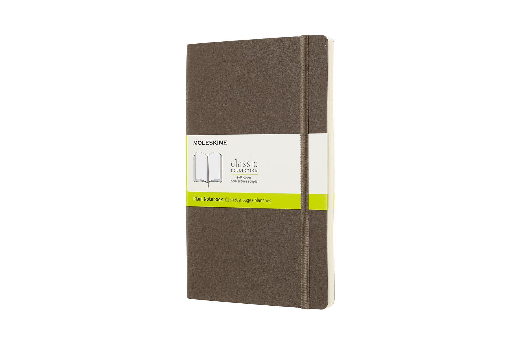 Moleskine Classic Soft Cover Notebook, Plain, Large ( ()