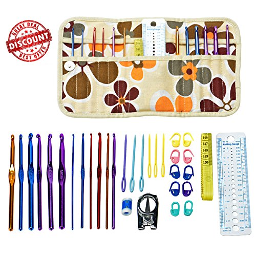 Cozypony 32Pcs Crochet Hooks Set in Aluminum