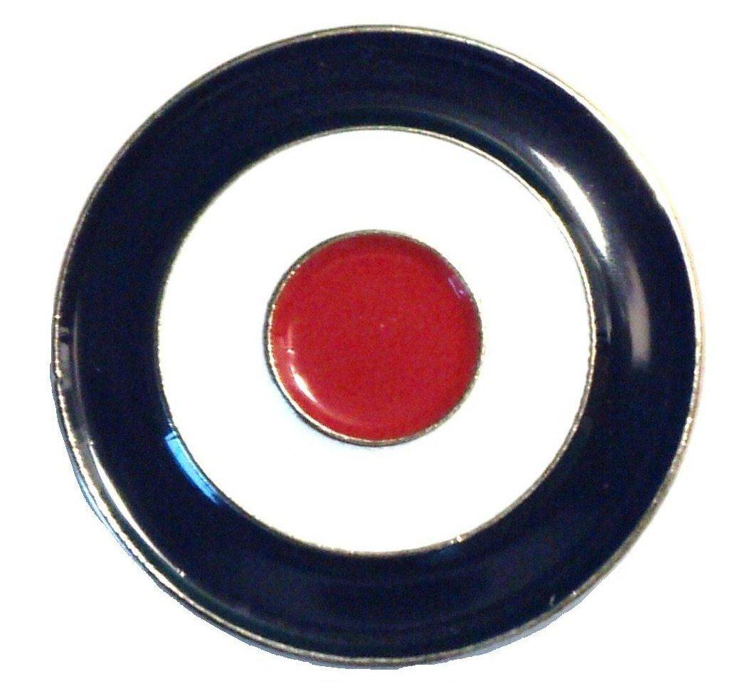 Rouge Blanc et Bleu mod RAF Cible Cocarde Scooter Métal Badge en émail Mercmad