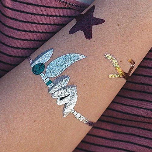 Tatuaje Temporal Tattify - Brazalete de concha marina metálica ...