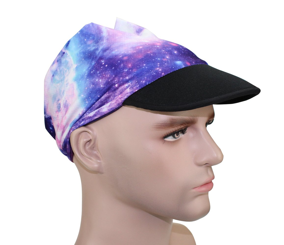 Outdoor Sport Hat Sunscreen Sun Visor Elastic Balaclava Magic Cap Sweat Absorption Ventilation Cycling Mask (EV-39) by GANWAY (Image #6)