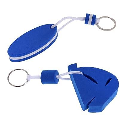 10x Yacht Boating Floating Keychain Keyring Key Ring-Sailing Surfboard Blue