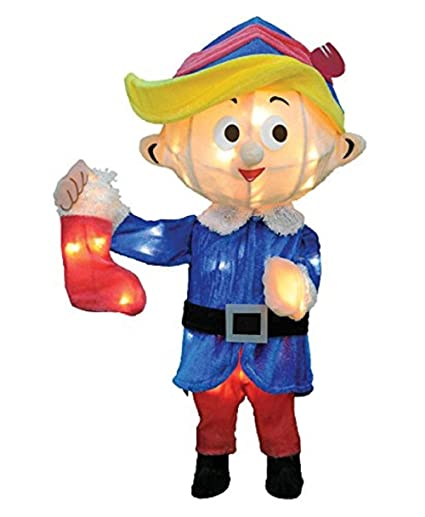 Christmas Dentist Elf.Christmas 24 3d Tinsel Hermey The Dentist Outdoor Indoor Holiday Decoration From Rudolph The Red Nosed Reindeer