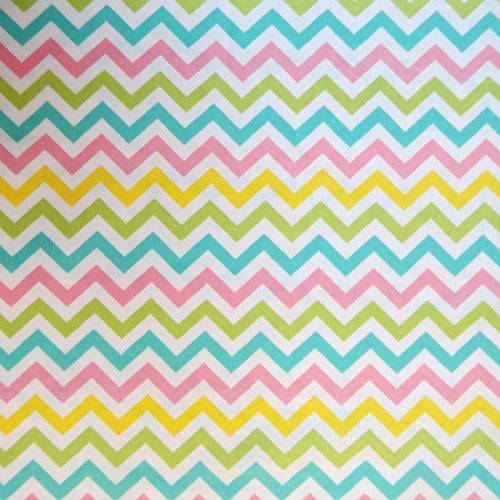 SheetWorld Fitted Cradle Sheet - Pastel Chevron - Made In USA