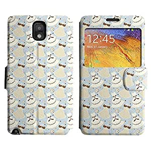 Be-Star Colorful Printed Design Slim PU Leather View Window Stand Flip Cover Case For Samsung Galaxy Note 3 III / N9000 / N9005 ( Cute Dresses ) Kimberly Kurzendoerfer