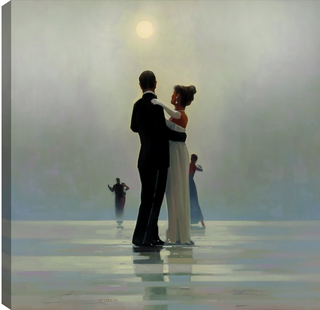 ArtMaison.ca 24X24 Dance Me Till the End of Love, Printed Canvas Gel Coated Romantic Wall Art, Medium, Black, White by ArtMaison.ca (Image #1)