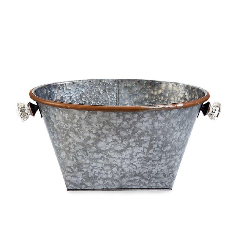 Mud Pie Doorknob Galvanized Tin Beverage Cooler
