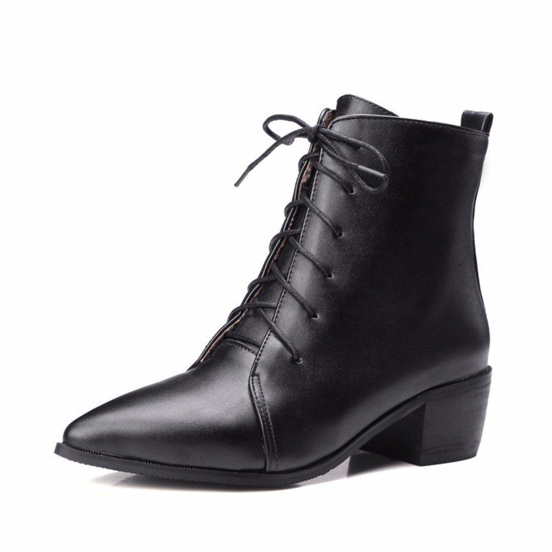 RFF-Damens's Schuhes Pointed Schuhes, Big Big Schuhes, Stiefel, Autumn Stiefel, and Martin Stiefel schwarz 063763