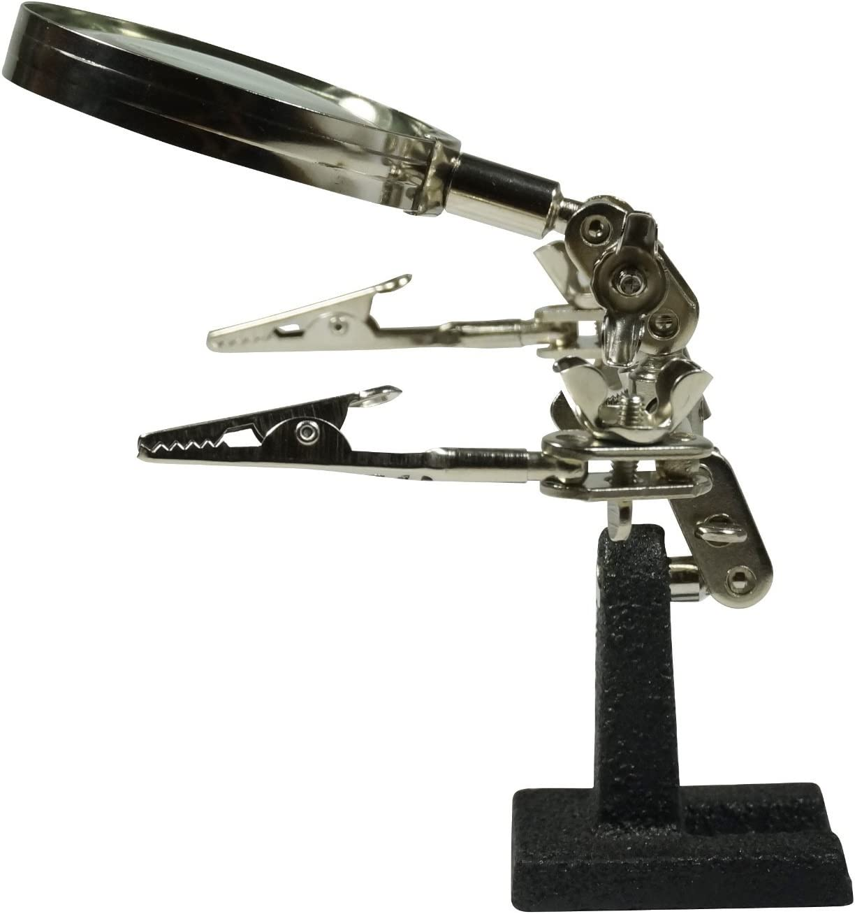 Helping Hand Hands Tool Jewelry Repair Fly Soldering Iron Clamp Magnifying Glass by EX ELECTRONIX EXPRESS