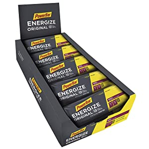 PowerBar Energize Original – 'The Original' Energy Bar for Endurance & Team Sports Athletes – Fueling Champions for 30+ years: 25 x 55g Bars - Berry