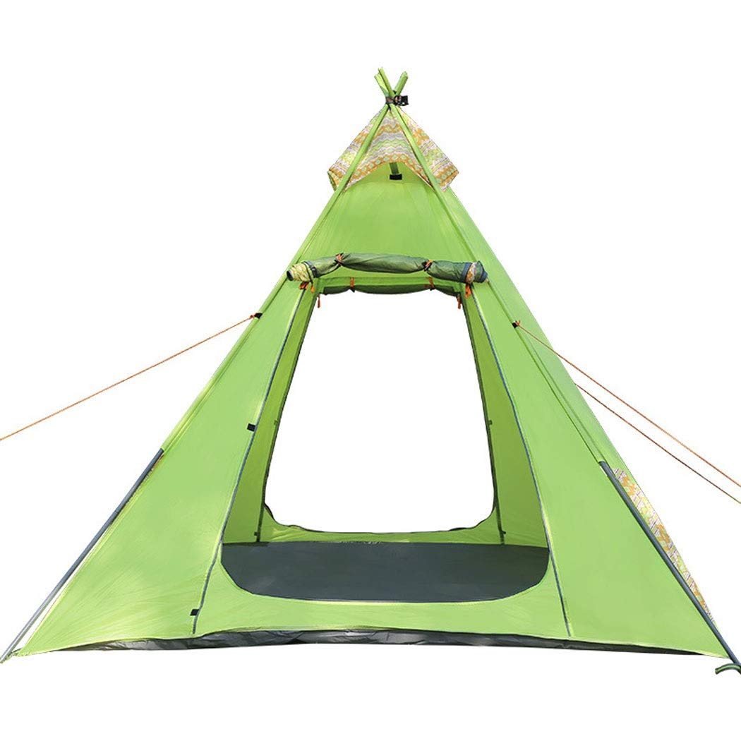 GJFeng Outdoor Camping Zelt Eisen Rohrmast Winddicht Wasserdicht EIN Schlafzimmer 3-4 Personen Camping Einschichtige Zelt 215  215  200 cm