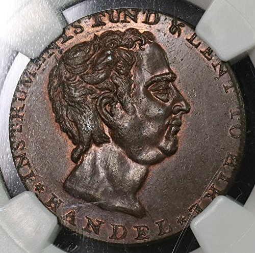 Conder Token - 1790 UK Great Britain Handel Conder 1/2 Penny Token Middlesex Dodds DH 300 (17091610C) 1/2 Penny Mint State NGC MS 64