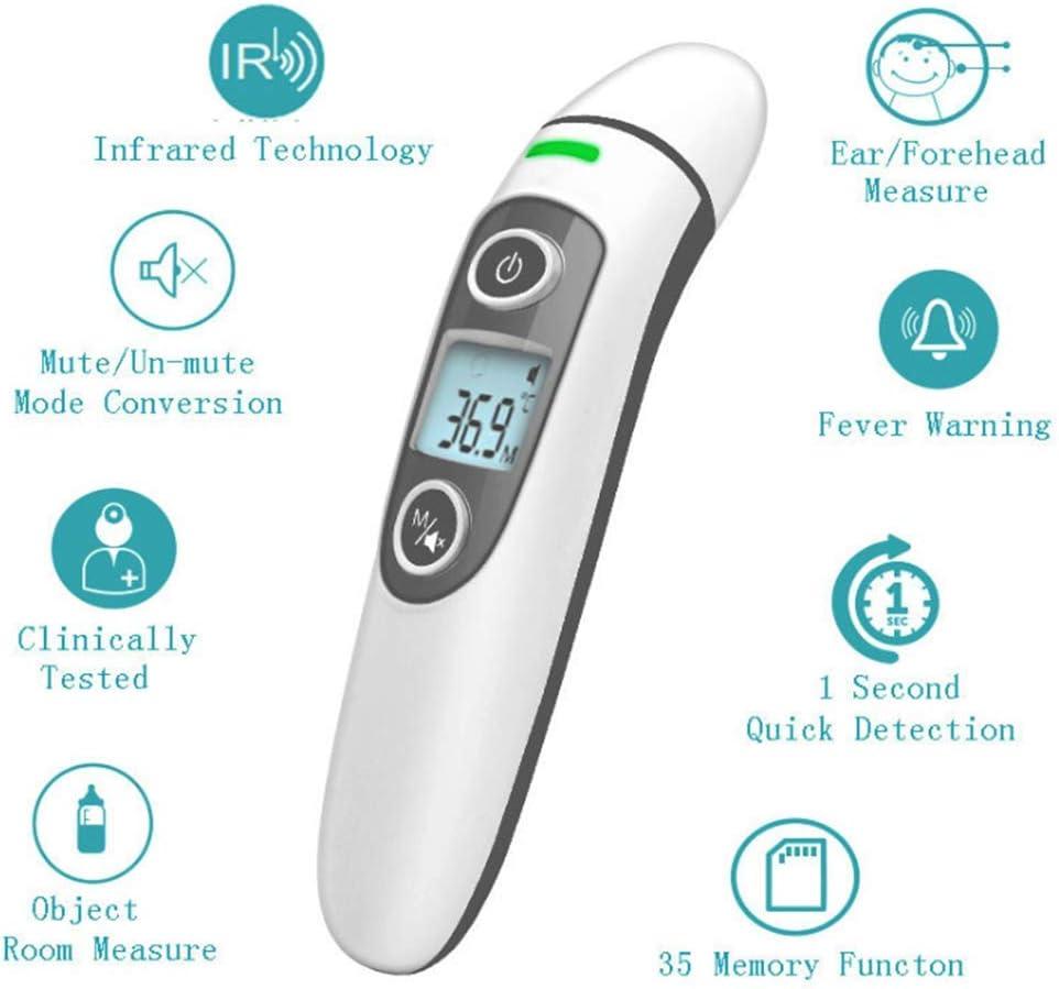 digitales medizinisches 5-in-1-Thermometer f/ür Babys Oberfl/äche und Raum LLVV Stirn- und Ohrthermometer Kinder und Erwachsene Digitales medizinisches Infrarot-Thermometer f/ür K/örper