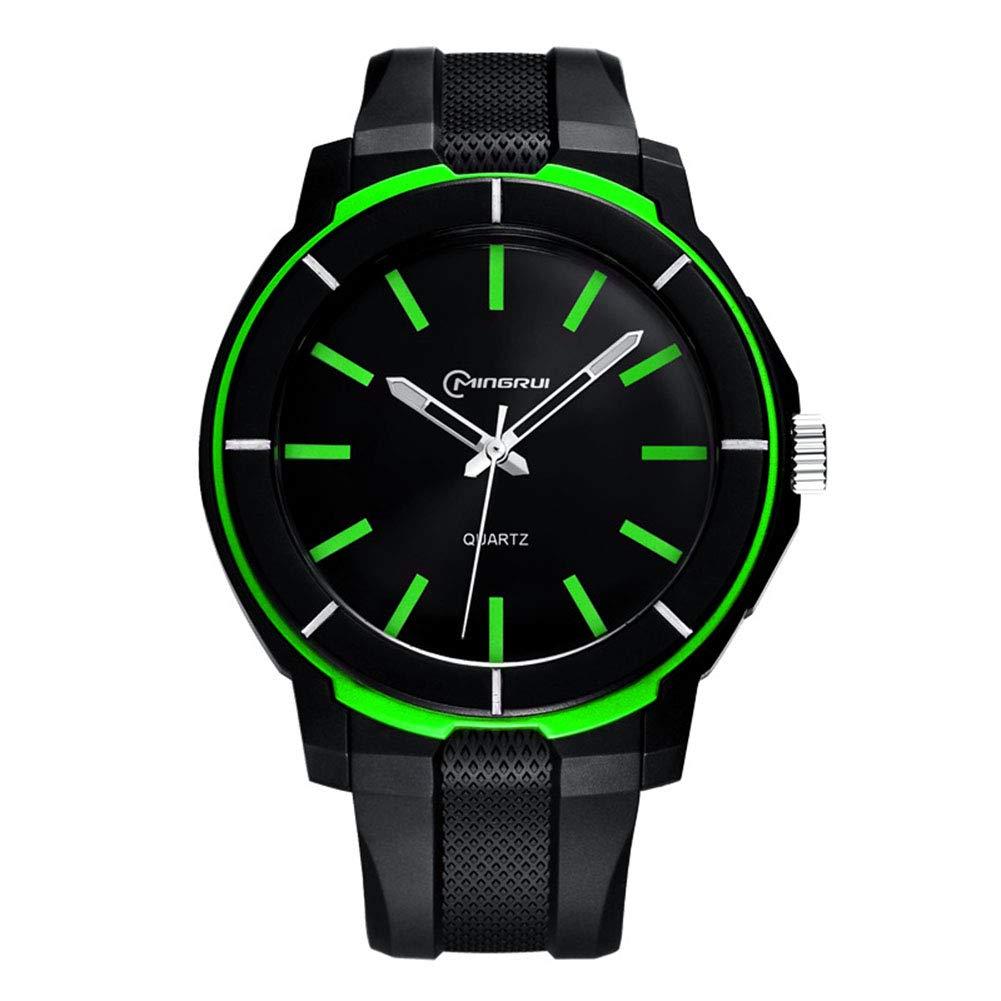 ETbotu Men Watch Shock Resistant Fashion Luminous Sport Watches Waterproof Silicone Military Watch Green