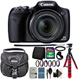 Canon PowerShot SX530 HS 16MP Wi-Fi Digital Camera (Black) + 67mm Filter Kit + Adapter Ring + Tulip Lens Hood + 8GB Memory Card + Wallet + Extra Battery + Case + Cap Holder + 3pc Cleaning Kit